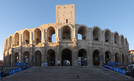 The Roman arena at Arles (2nd century AD) FranceArlesArenes 07-2013.jpg