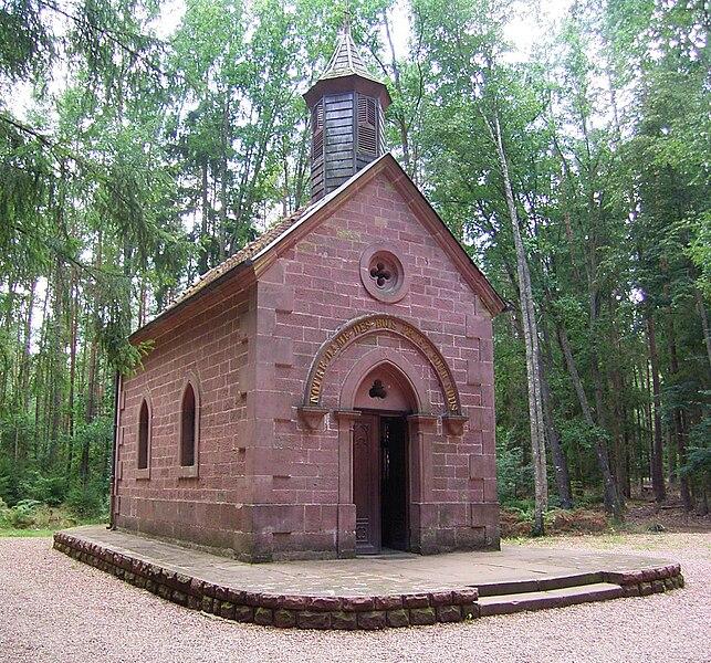 Notre-Dame-des-Bois chapel in Erbsenthal, next to Eguelshardt, Moselle, France