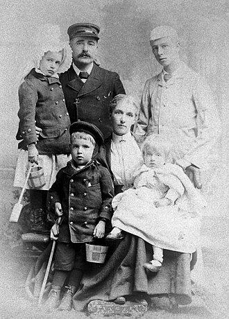 Francis Champneys - Francis Champneys with family in 1862