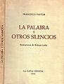 """Francisco Pastor, Portada de """"La palabra y otros silencios"""".JPG"""