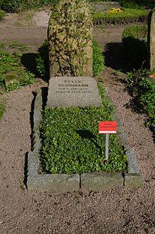 Ehrengrab Felix Schumanns auf dem Frankfurter Hauptfriedhof (Quelle: Wikimedia)
