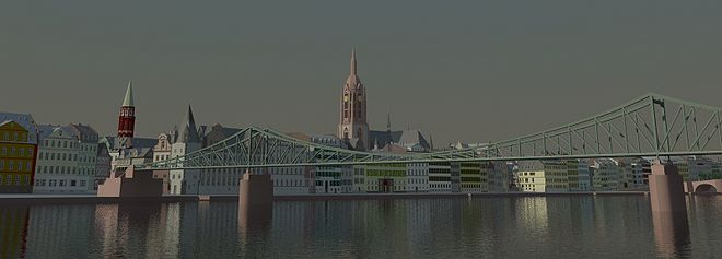 Blick über den Main auf die Frankfurter Skyline (Foto: Jeremy Edwards ...