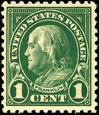 US Regular Issues of 1922–31 - Benjamin Franklin