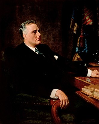 Four Freedoms Award - President Franklin Delano Roosevelt, painted by Frank O. Salisbury, 1947