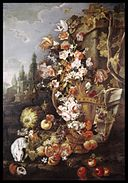 Franz Werner von Tamm - Still Life of Flowers and Fruits in a Garden - Walters 371674.jpg