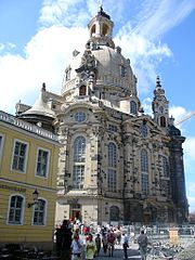 The reconstructed Frauenkirche in 2005.