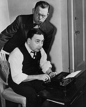 Earl Wilson (columnist) - Wilson and comedian Fred Allen (1949)