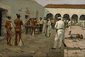 Mier expedition - Image: Frederic Remington The Mier Expedition The Drawing of the Black Bean Google Art Project