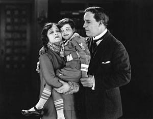 Frankie Lee - Pauline Frederick, Frankie Lee, and Percy Standing in Bonds of Love (1919)