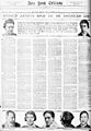 Frederick William MacMonnies, Albert Gleizes, Jean Crotti, Yvonne Chastel Crotti, Francis Picabia, Juliette Roche Gleizes, Marcel Duchamp, New York Tribune, 24 October 1915.jpg