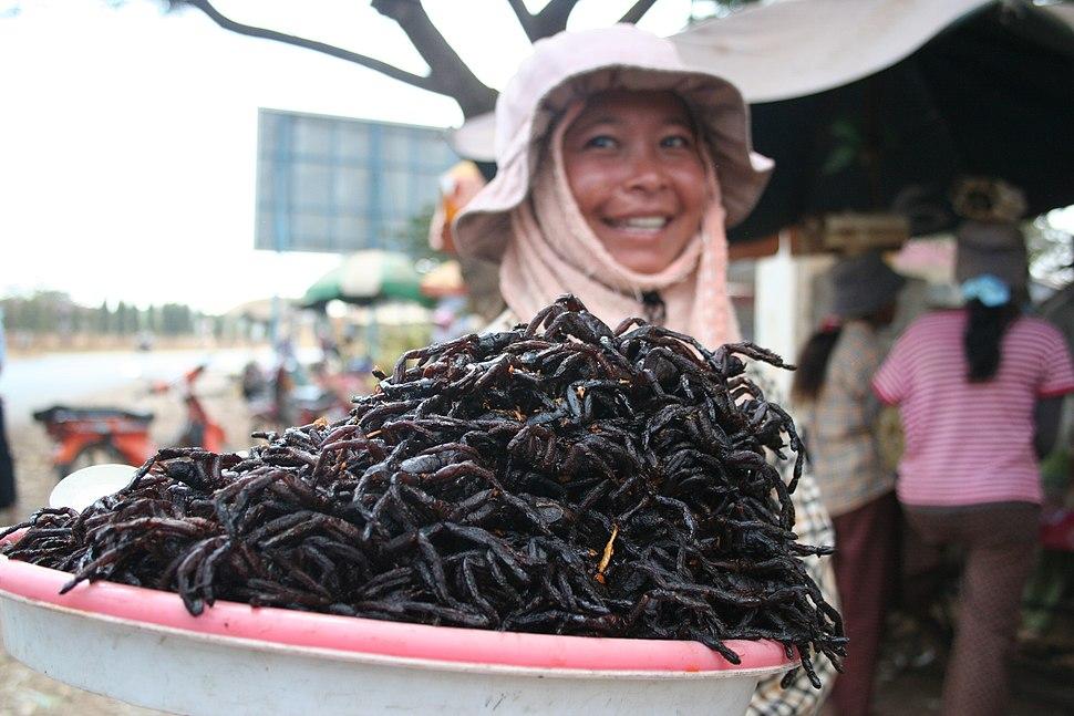 Fried spiders Skuon Cambodia
