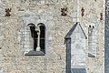 Friesach 37 Stadtpfarrkirche hl. Bartholomäus S-Turm Bifora 09102020 8309.jpg