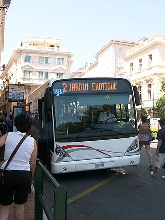 Transport in Monaco - Line 2 at a bus stop