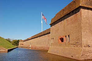 Entrance to Fort Pulaski.