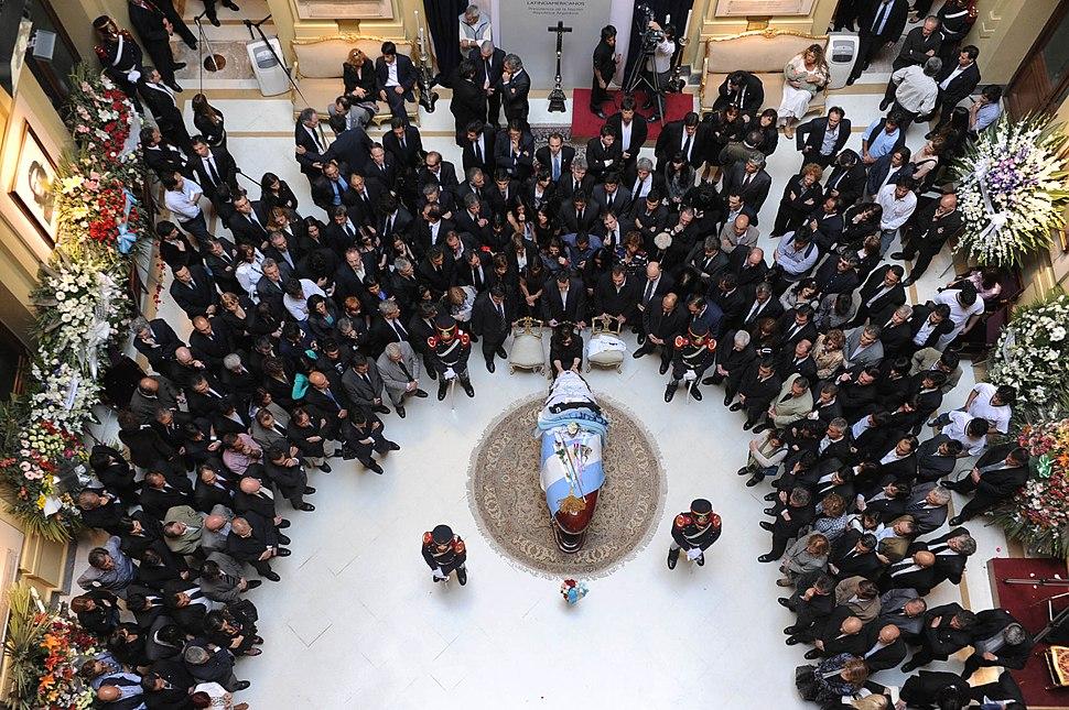 Funeral de kirchner desde arriba