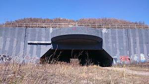 """Fort Tilden - 16"""" gun Casemate"""