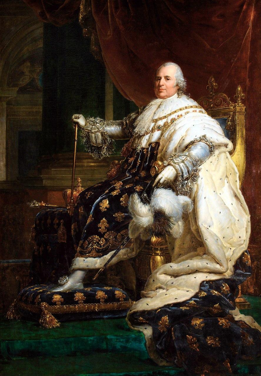 Gérard - Louis XVIII of France in Coronation Robes