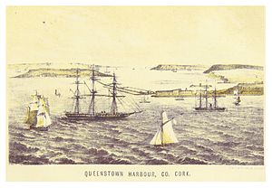 Coast of Ireland Station - Queenstown harbour in 1871