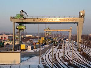 Dresden-Friedrichstadt station - The transhipment yard in the Dresden freight traffic centre