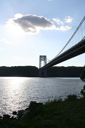 George Washington Bridge over the Hudson River...