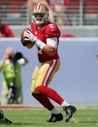 Blaine Gabbert - Gabbert with the 49ers