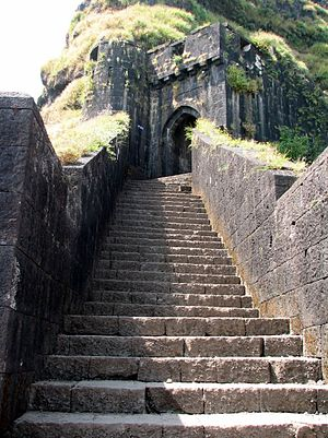 Lohagad - Main entrance to Lohagad fort.