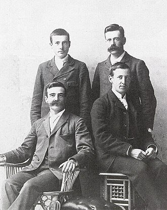 William Francis Ganong - Sons of James H. Ganong, 1895; Walter and Edwin (standing), William and Arthur (seated)