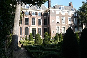 Museum Meermanno -  Rear of the museum with period garden.