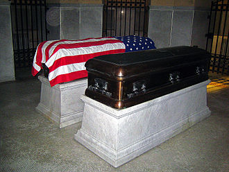 James A. Garfield Memorial - President and Mrs. Garfield's caskets at the memorial