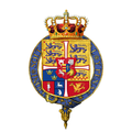 Garter-encircled arms of Christian X, King of Denmark.png