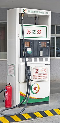Gas pump at station in Dongcheng District, Beijing.jpg