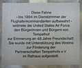 Gedenktafel Tempelhofer Damm 163 (Temph) United States Air Force.jpg