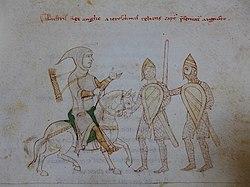 La captura del rey Ricardo I de la Crónica de Petrus de Ebulo , 1197.