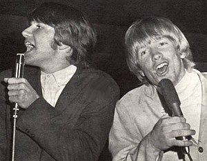 Larry Norman discography - Larry Norman (right) performing with Gene Mason (left)