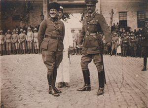 Charles Harington Harington - General Harington, with Selahattin Adil Paşa, before his final departure from İstanbul, Dolmabahçe wharf