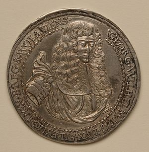 George William, Duke of Liegnitz - Funerary medal, 1675
