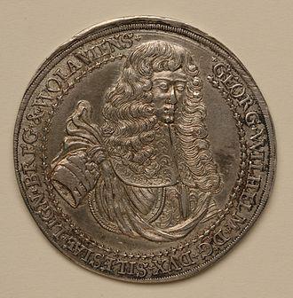 George William, Duke of Liegnitz - Funerary medal, 1675