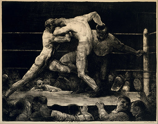 George Bellows - A Stag at Sharkey's - Google Art Project