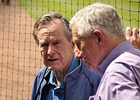 McLane (right) and George H. W. Bush, April 2010