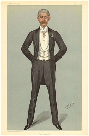 "George Holford - Caricature of Sir George Holford in ""Vanity Fair"" 1899."