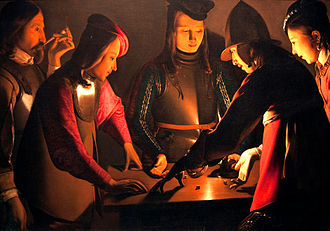 Georges de La Tour - Dice-players, c. 1651, probably his last work. Preston Hall Museum, Stockton-on-Tees, UK.