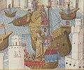 Gestorum Rhodie obsidionis commentarii - BNF Lat6067 f175 (arrivée du prince Djem à Rhodes) (cropped).jpg