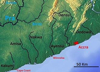 Ayensu River - Image: Ghana coastal rivers