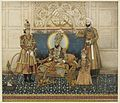 Ghulam Ali Khan, Bahadur Shah II enthroned with Mirza Fakhruddin 1837–38 Arthur M. Sackler Gallery, Smithsonian Institution, Washington.jpg