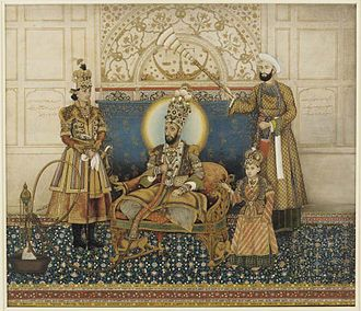 Red Fort - Bahadur Shah II in the Khas Mahal, underneath the Scales of Justice