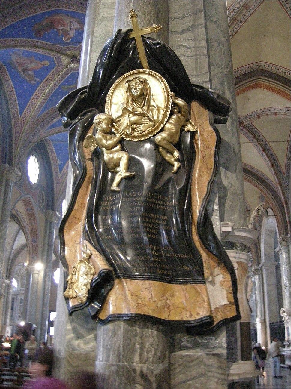 Gian lorenzo bernini, Cenotafio di Suor Maria Raggi (1647-53)