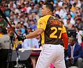 Giancarlo Stanton competes in semis of '16 T-Mobile -HRDerby. (27957564834).jpg