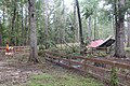 Gibson Park damaged picnic shelter and closed road from Hurricane Irma, Hamilton County.jpg