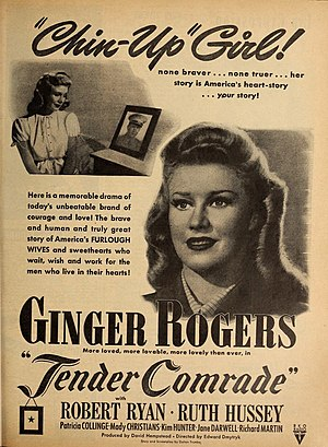 Ginger Rogers in 'Tender Comrade', 1943.jpg