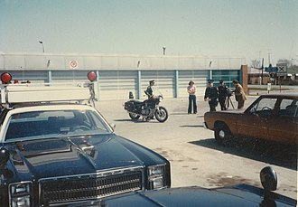 Downsview - The Ontario Provincial Police's garage depot in Downsview, 1979